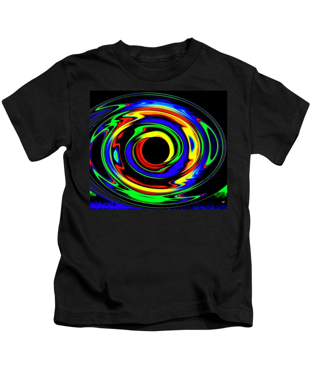 Abstract Kids T-Shirt featuring the digital art Pizzazz 12 by Will Borden