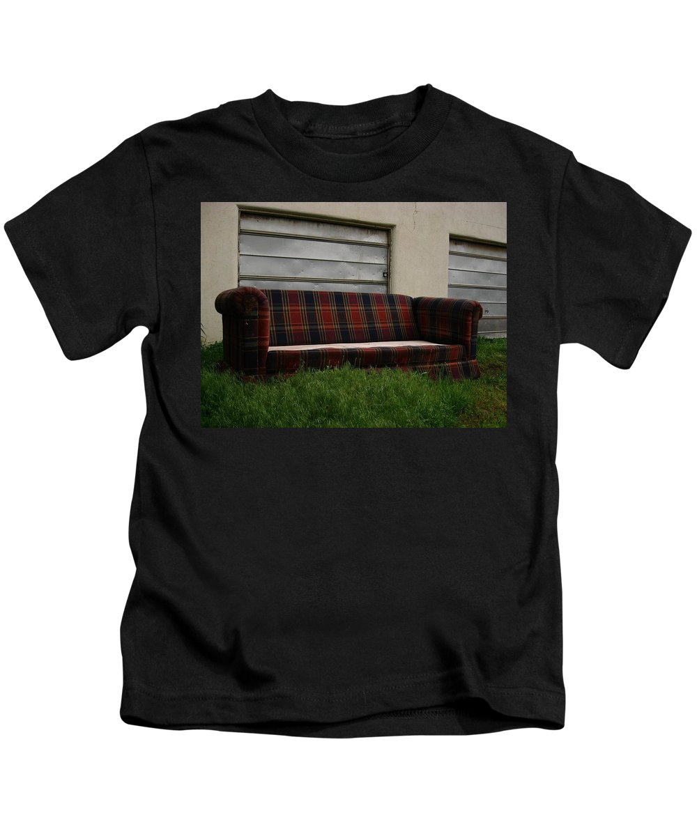 Color Photography Kids T-Shirt featuring the photograph Plaid by Kirk Griffith