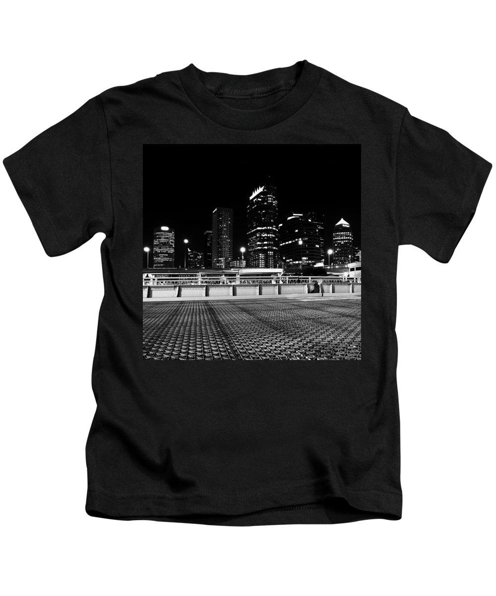 Fine Art Photography Kids T-Shirt featuring the photograph Platt Street Tampa by David Lee Thompson