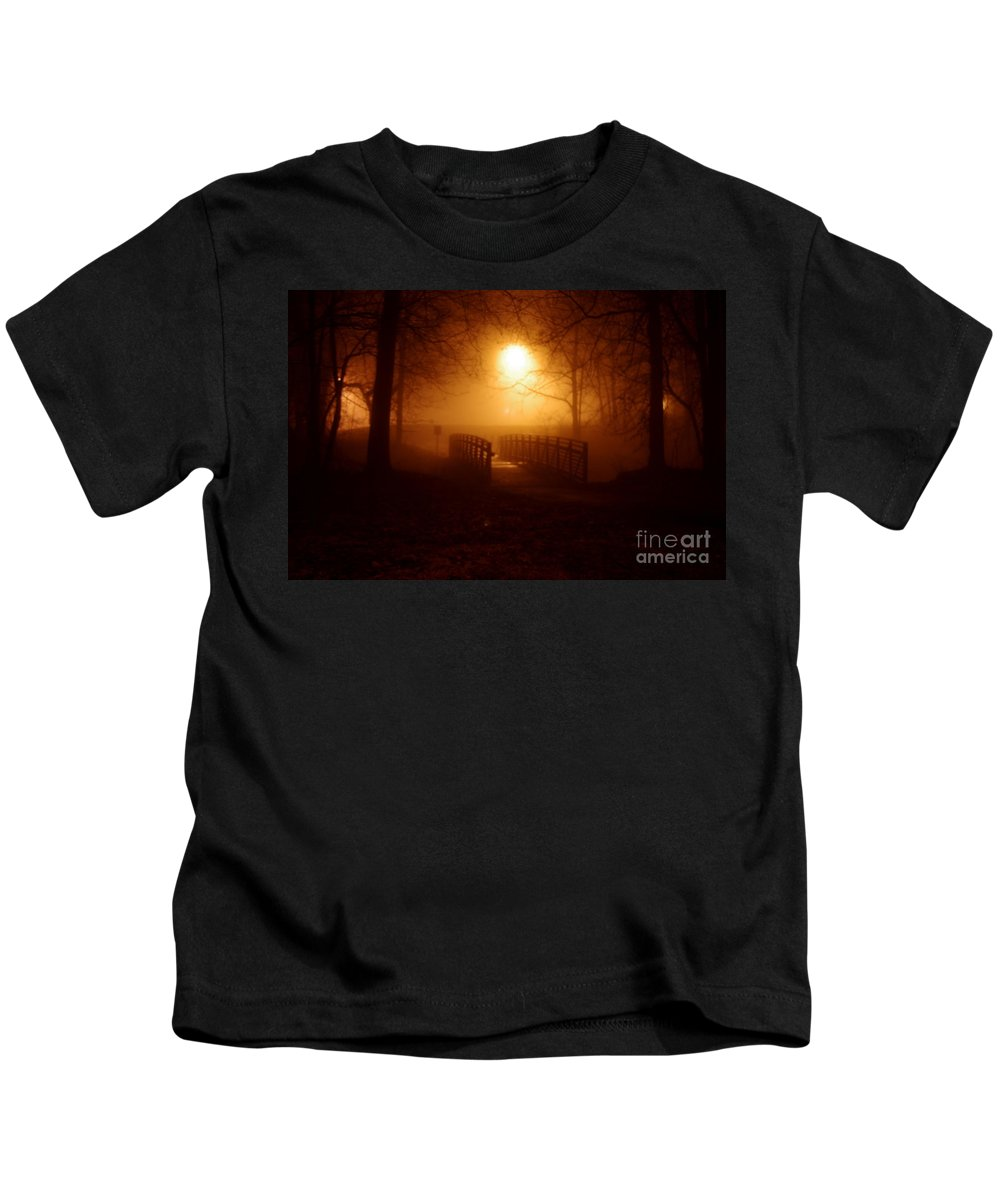Kids T-Shirt featuring the photograph Pleasant Run Bridge by Kitrina Arbuckle