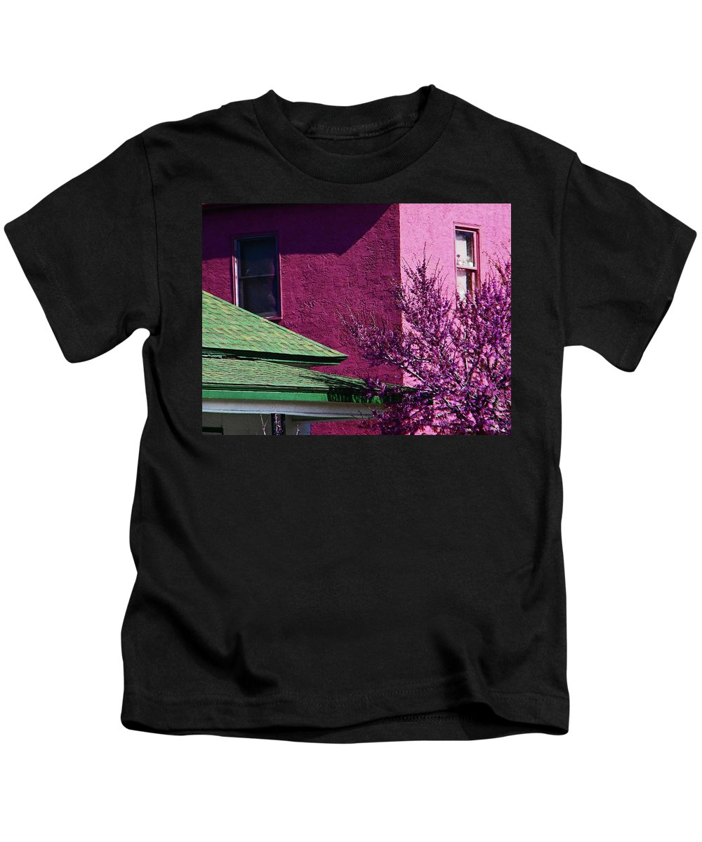 Abstract Kids T-Shirt featuring the photograph Plum Abstract by Lenore Senior