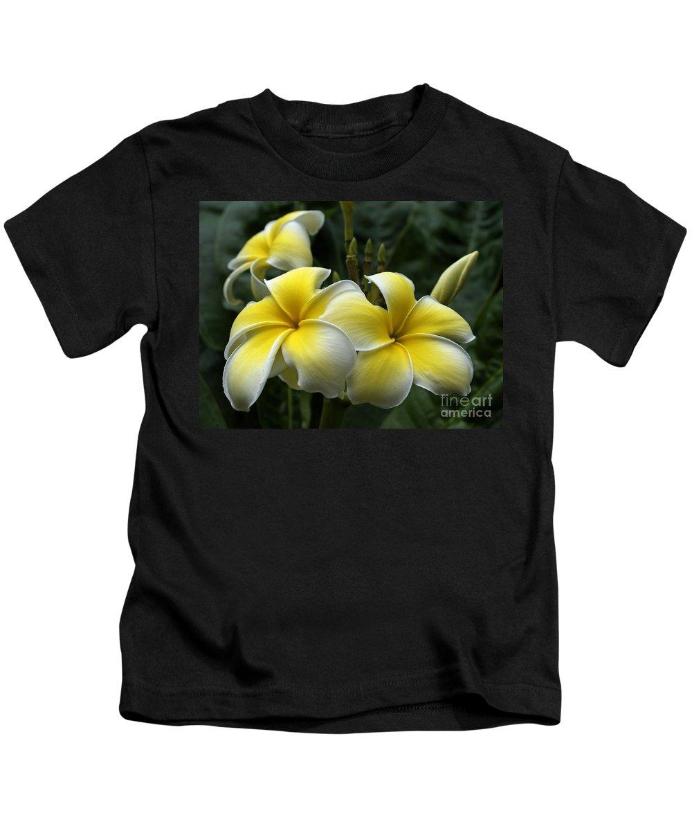 Plumeria Kids T-Shirt featuring the photograph Plumeria by Ann Horn
