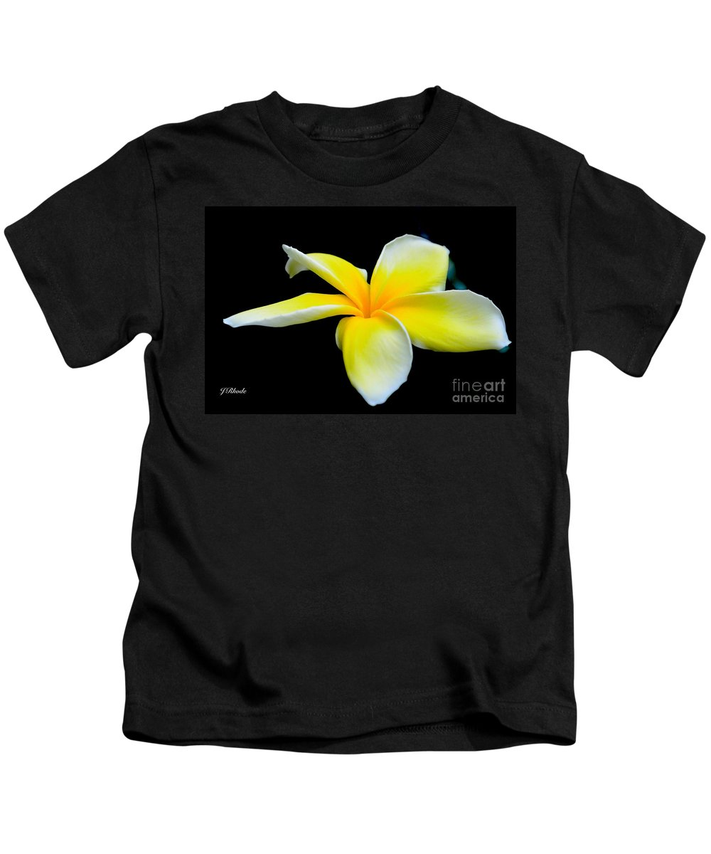Plumeria In Yellow Kids T-Shirt featuring the photograph Plumeria In Yellow by Jeannie Rhode