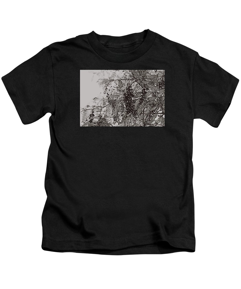 Pokeweed Kids T-Shirt featuring the photograph Pokeweed by Linda Shafer