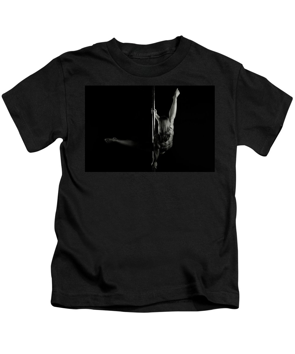 Strength Kids T-Shirt featuring the photograph Pole Position 4 by Monte Arnold
