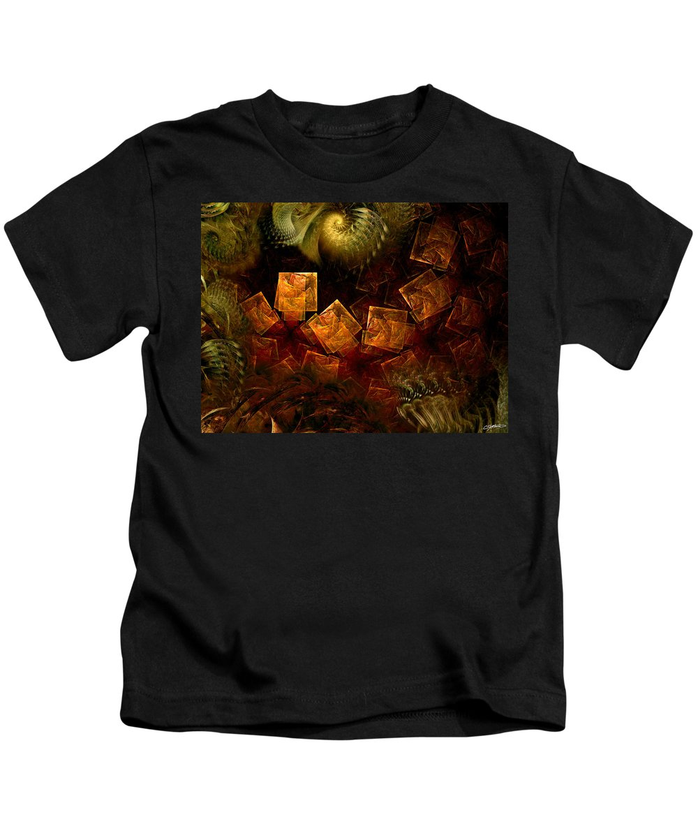 Abstract Kids T-Shirt featuring the digital art Political Dissonance by Casey Kotas