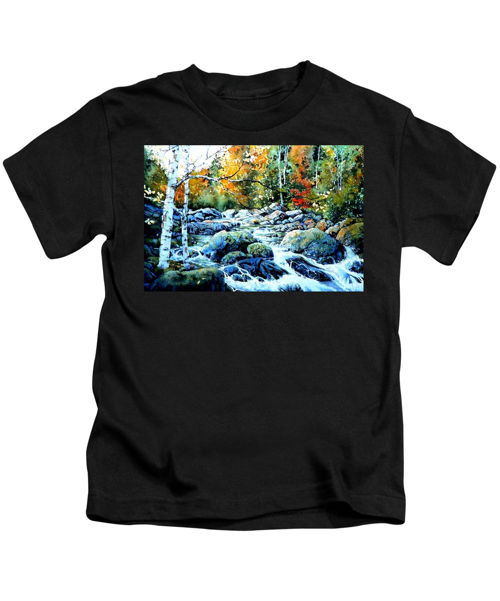 Landscape Kids T-Shirt featuring the painting Polliwog Clearing by Hanne Lore Koehler