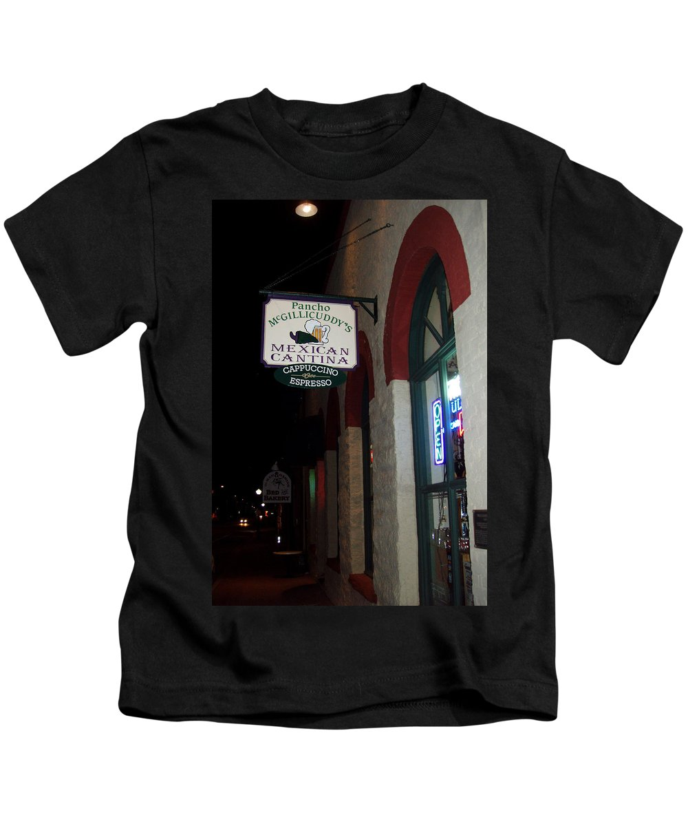 Restaurant Kids T-Shirt featuring the photograph Poncho Mcgillicuddys by Wayne Potrafka