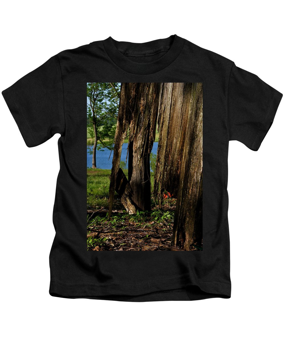 Landscape Kids T-Shirt featuring the photograph Pond Fragments by Rachel Christine Nowicki