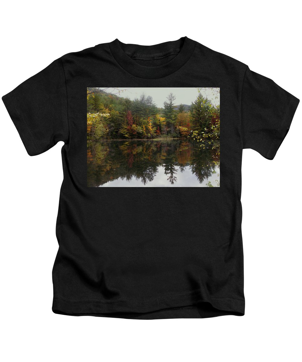 Landscape Kids T-Shirt featuring the photograph Pond in Jackson by Nancy Griswold