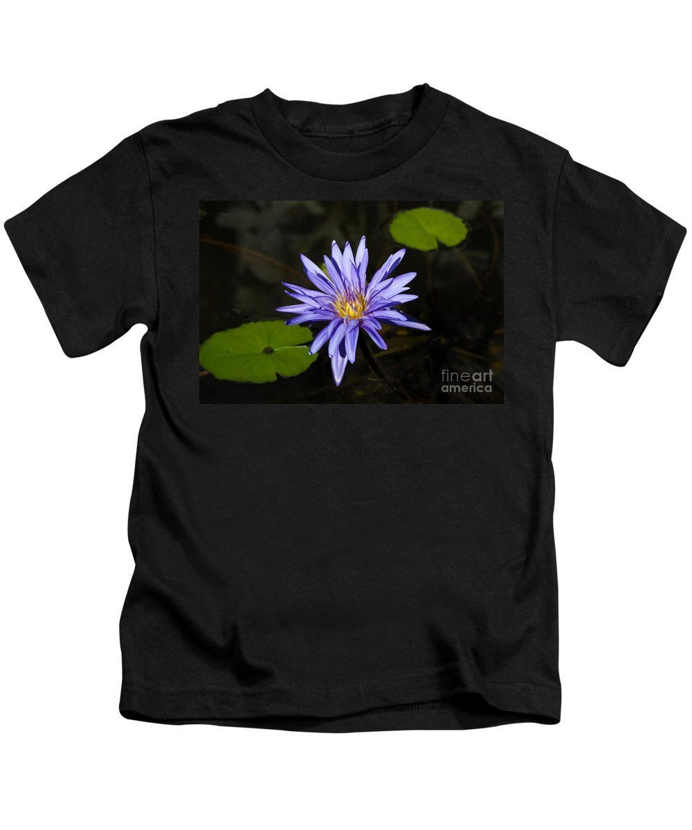 Pond Lily Kids T-Shirt featuring the photograph Pond Lily by David Lee Thompson