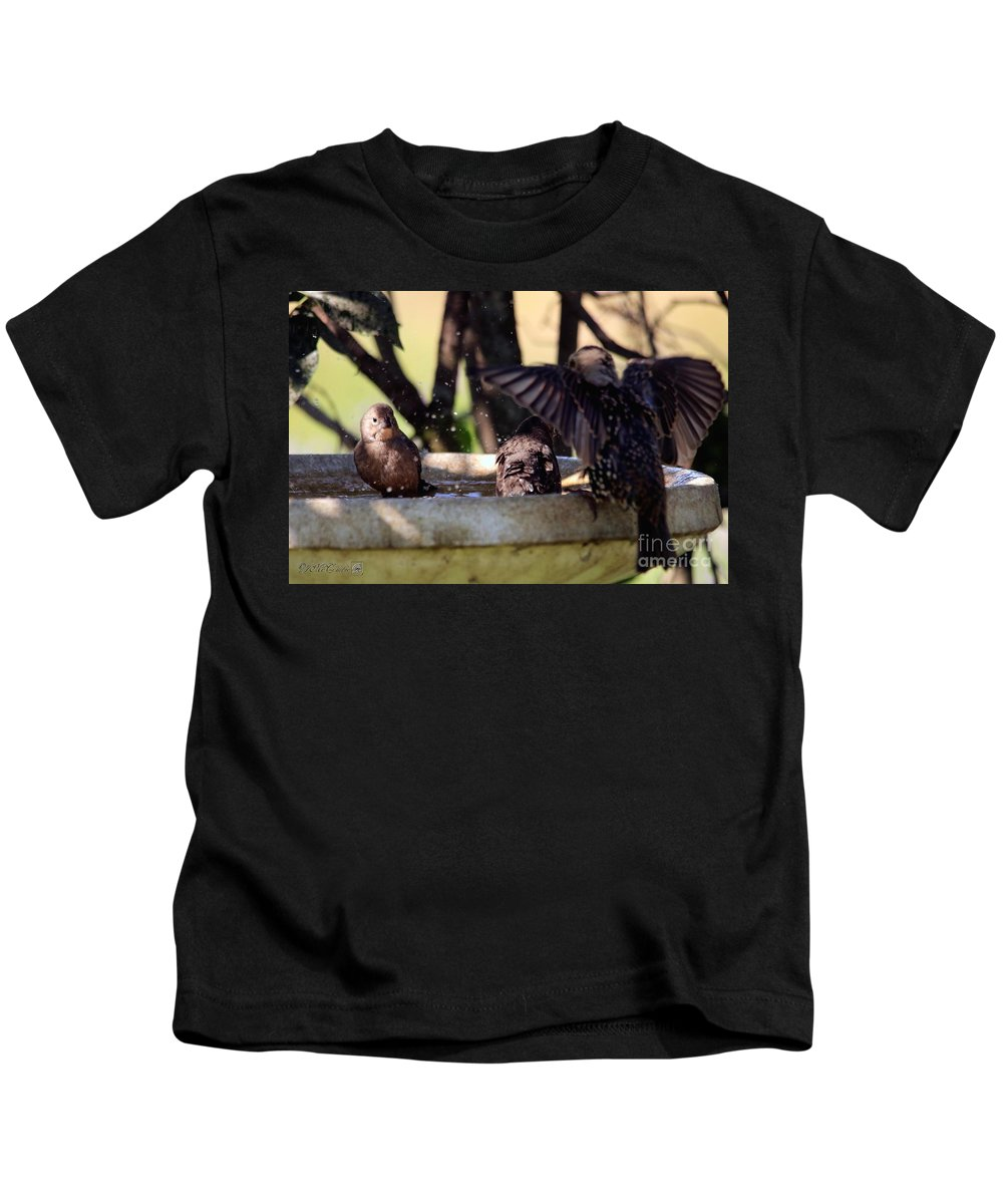 Mccombie Kids T-Shirt featuring the photograph Pool Party by J McCombie