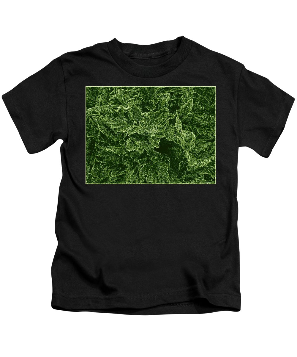 #poppyleaves Kids T-Shirt featuring the digital art Poppy Leaves by Will Borden