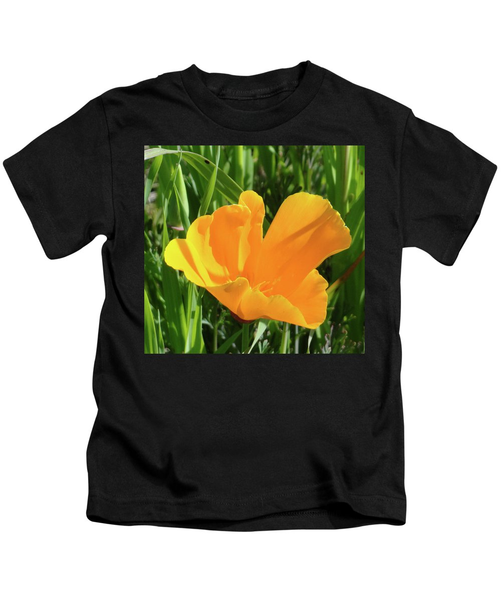 Poppy Kids T-Shirt featuring the photograph Poppy by Shannon Grissom
