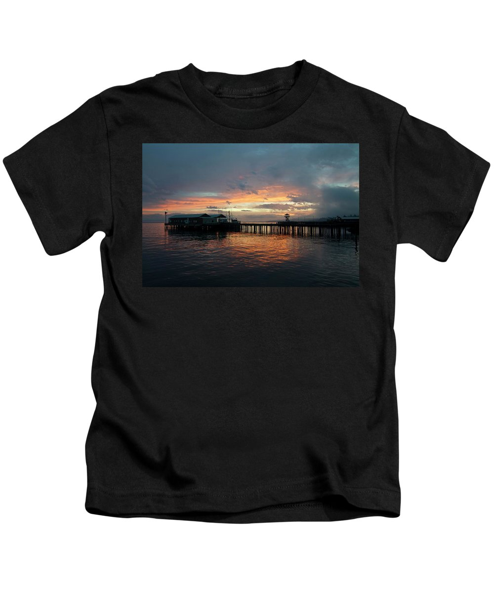Portangeles Kids T-Shirt featuring the photograph Port Angeles Sunrise by Porter Glendinning