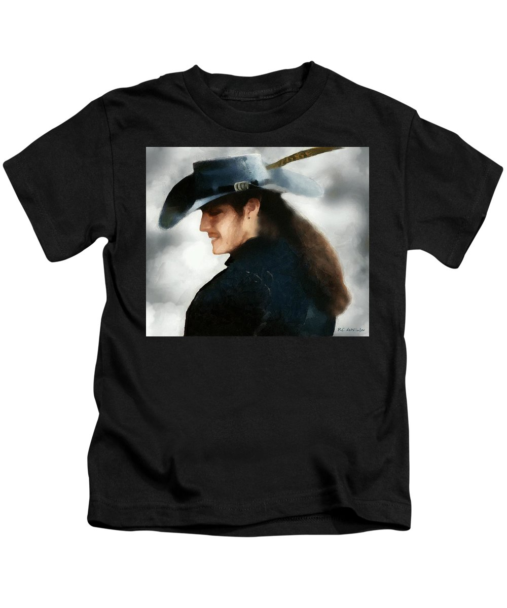 Buccaneer Kids T-Shirt featuring the painting Portrait Of A Young Man As A Buccaneer by RC DeWinter