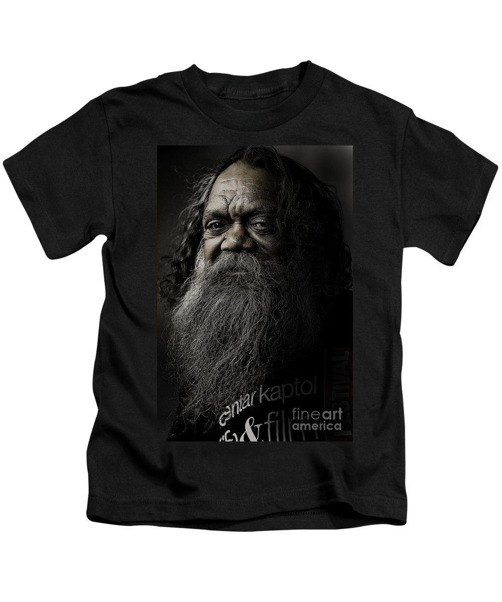 Aboriginal Kids T-Shirt featuring the photograph Portrait Of Cedric by Sheila Smart Fine Art Photography