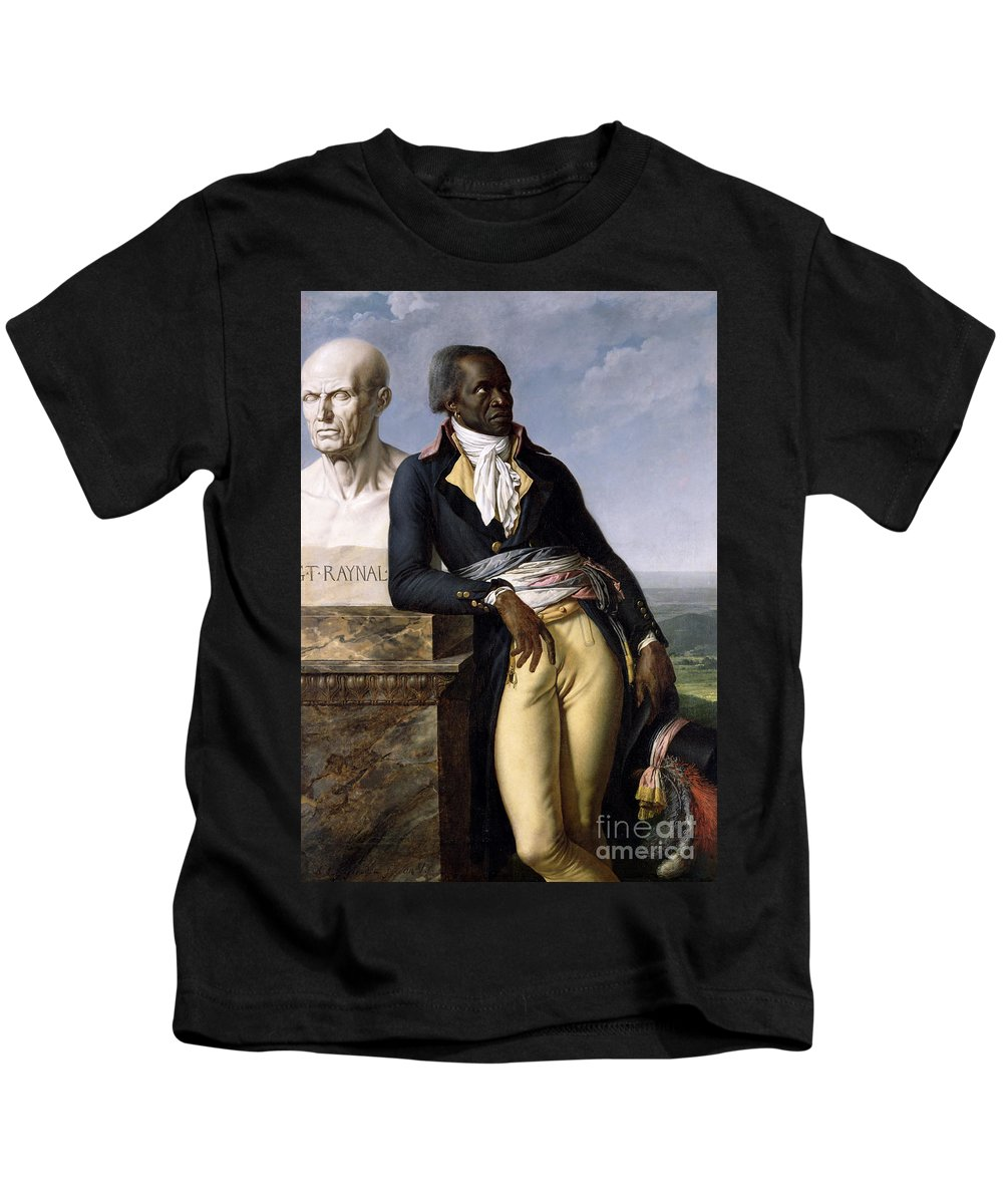 Portrait Kids T-Shirt featuring the painting Portrait Of Jean-baptiste Belley by Anne Louis Girodet de Roucy-Trioson