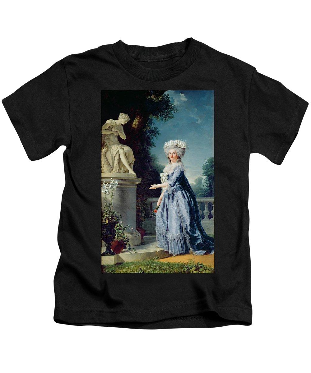 Portrait Kids T-Shirt featuring the painting Portrait Of Marie-louise Victoire De France by Adelaide Labille-Guiard