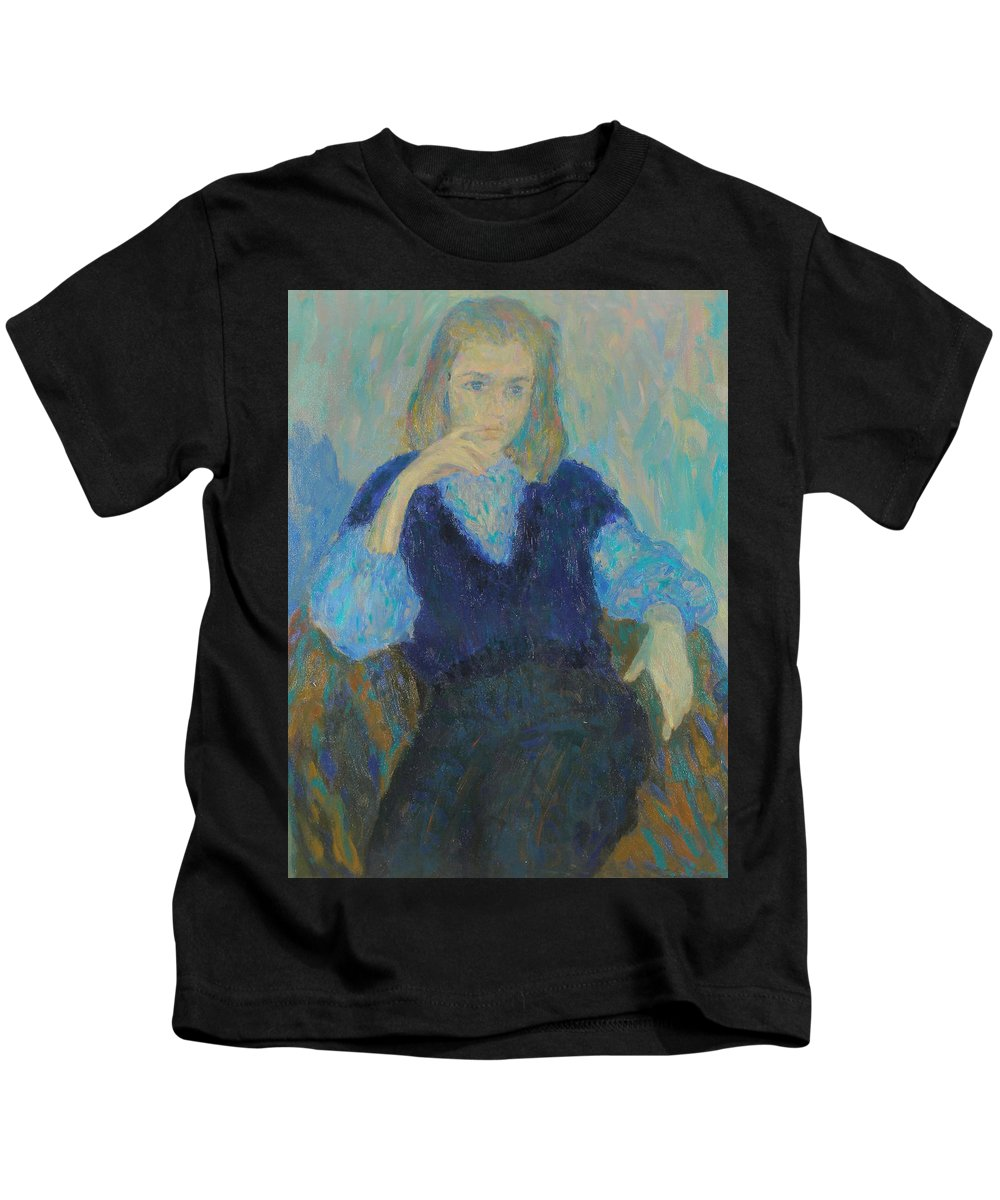 Beauty Kids T-Shirt featuring the painting Portrait by Robert Nizamov