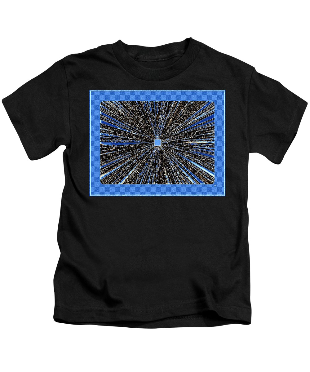 Abstract Kids T-Shirt featuring the digital art Positive Energy by Will Borden
