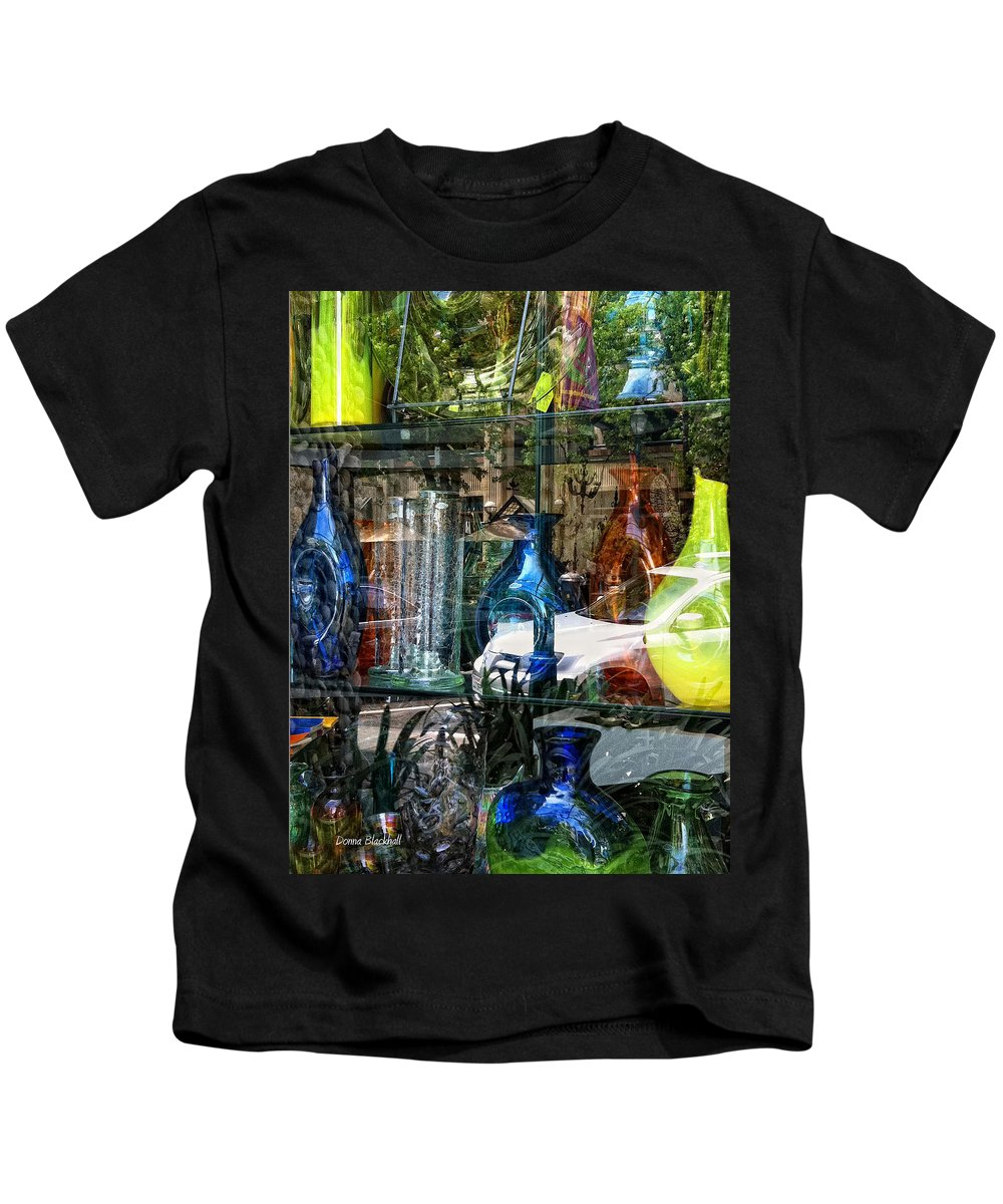 Glass Kids T-Shirt featuring the photograph Potential Broken Glass by Donna Blackhall