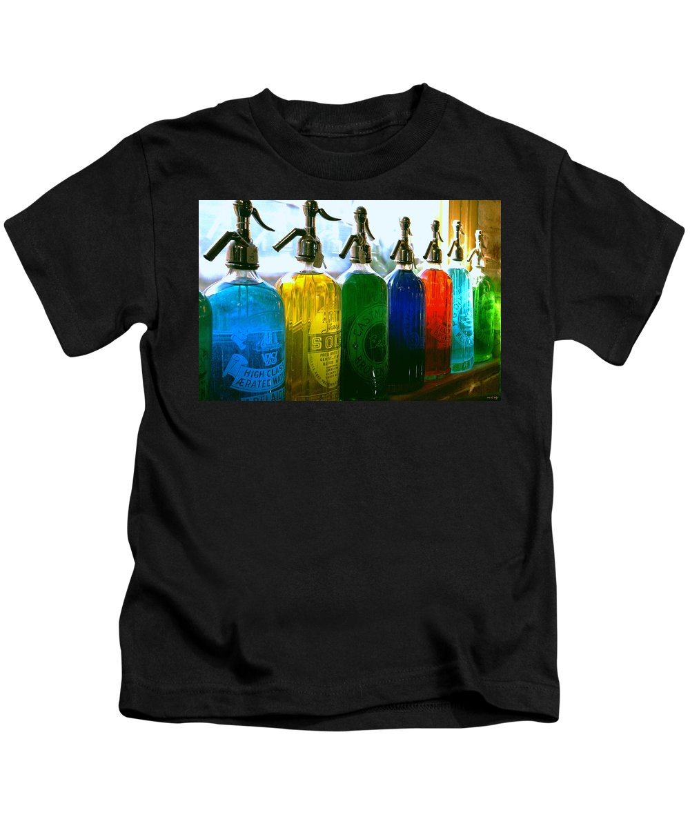 Food And Beverage Kids T-Shirt featuring the photograph Pour Me A Rainbow by Holly Kempe