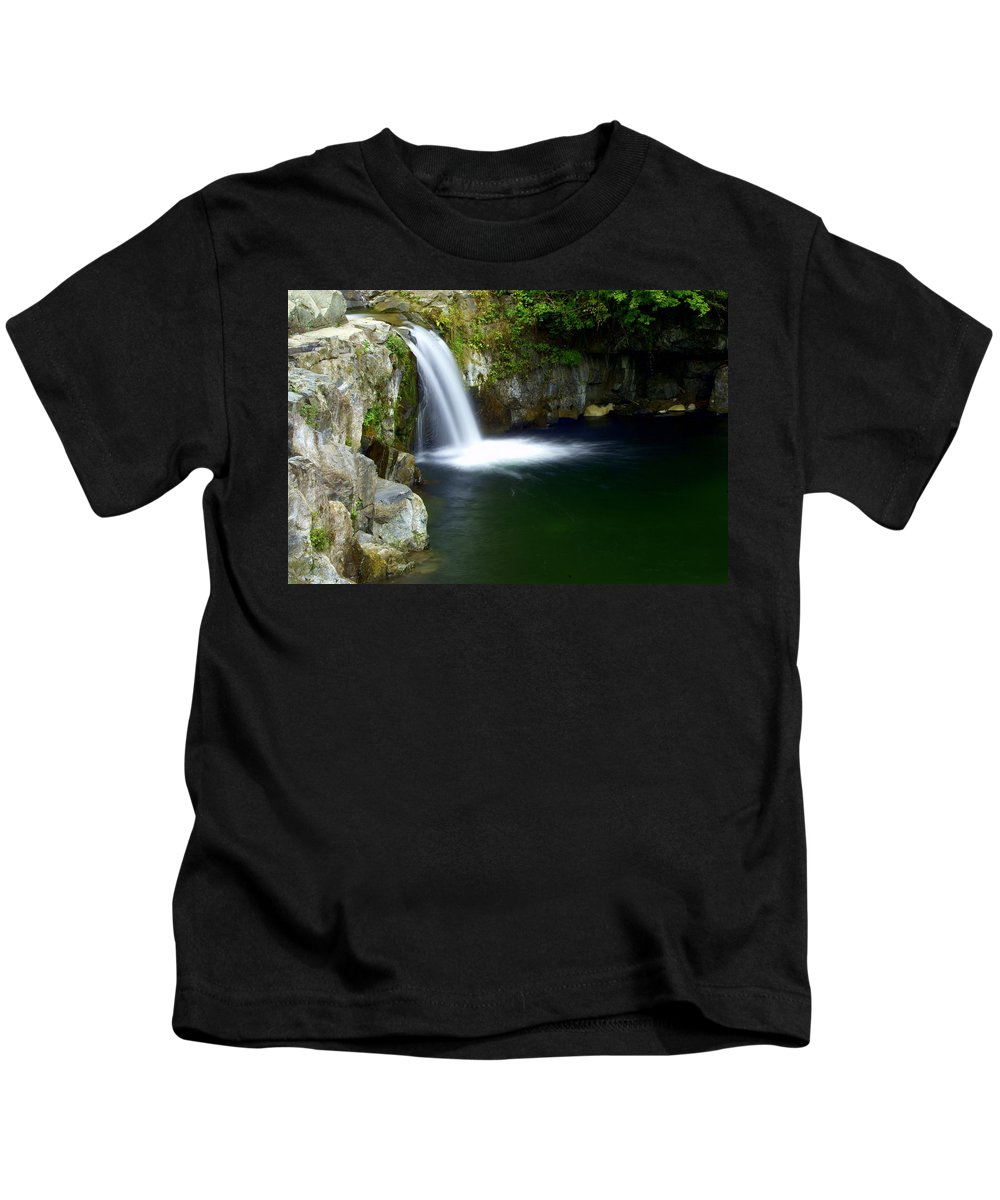 Waterfall Kids T-Shirt featuring the photograph Pour Off by Marty Koch