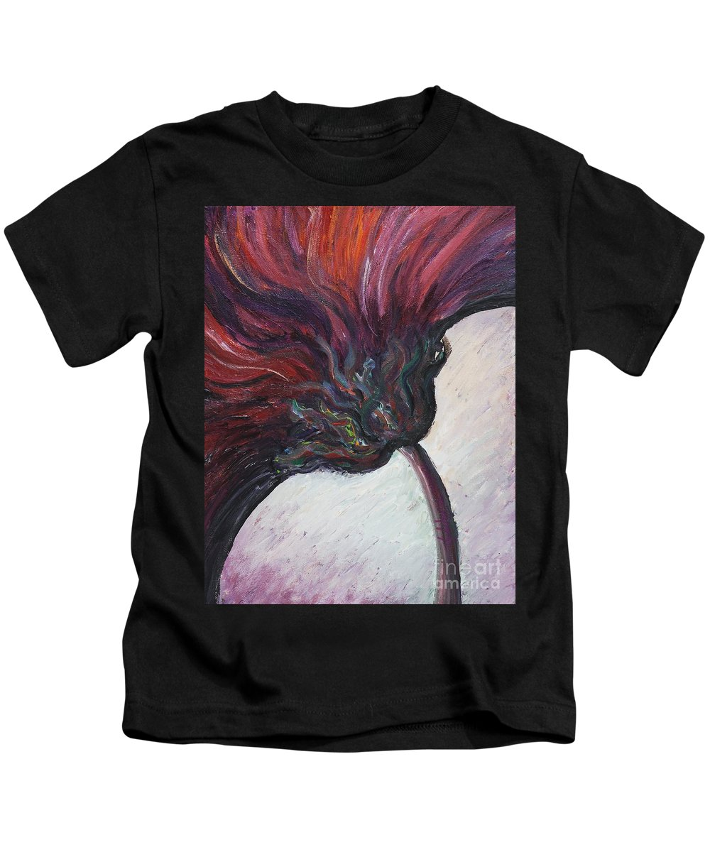 Purple Kids T-Shirt featuring the painting Power of Purple by Nadine Rippelmeyer