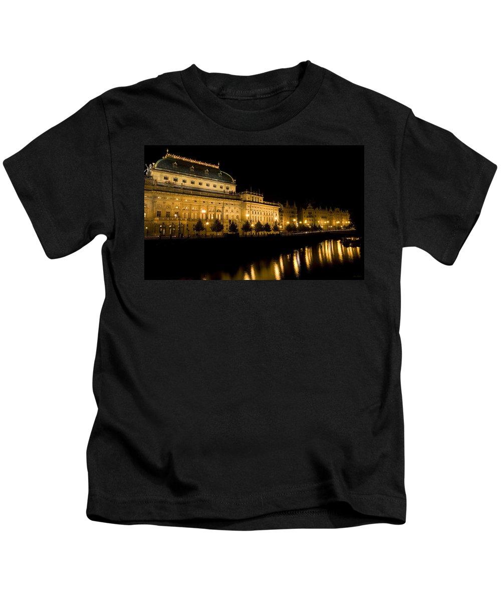 Prague Kids T-Shirt featuring the photograph Prague National Theatre by Julian Wicksteed