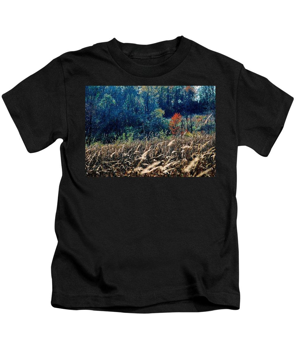 Landscape Kids T-Shirt featuring the photograph Prairie Edge by Steve Karol