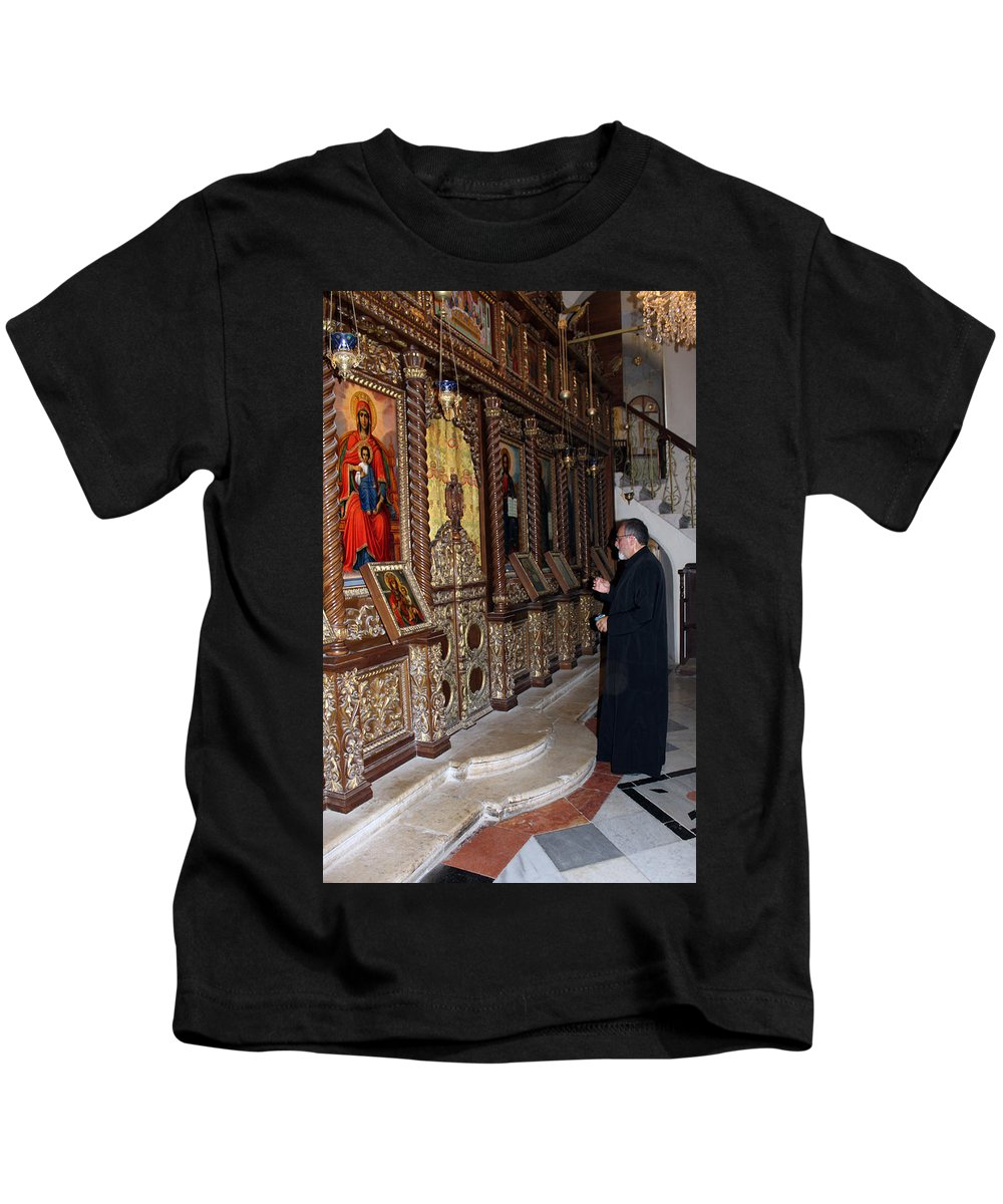Priest Kids T-Shirt featuring the photograph Praying In Jericho by Munir Alawi