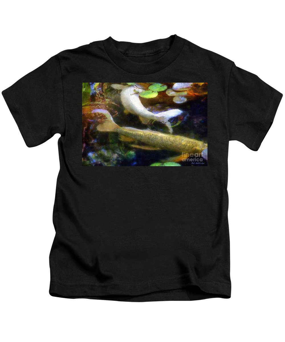 Fish Kids T-Shirt featuring the painting Pretending To Be Coy by RC DeWinter