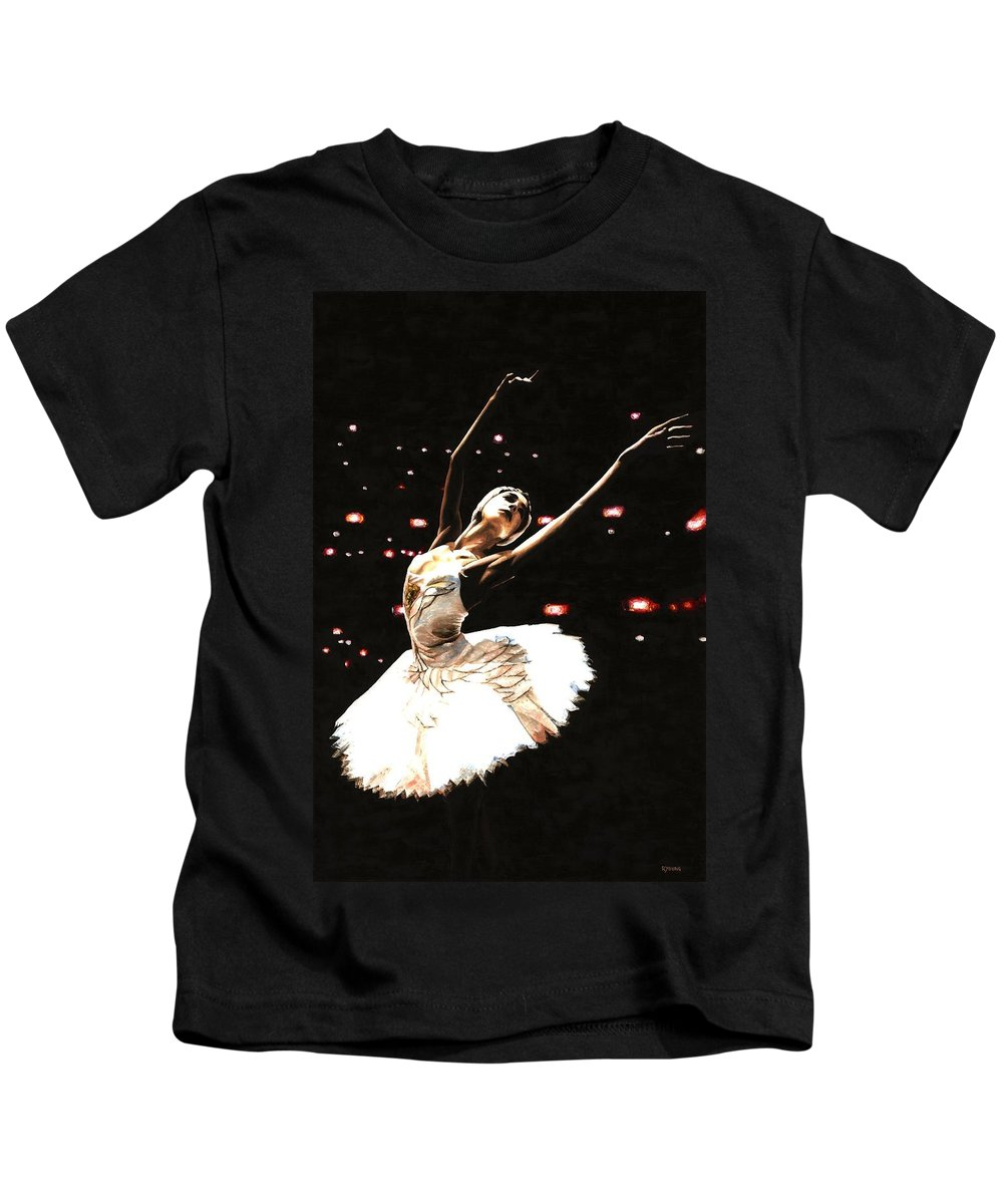 Prima Ballerina Kids T-Shirt featuring the painting Prima Ballerina by Richard Young