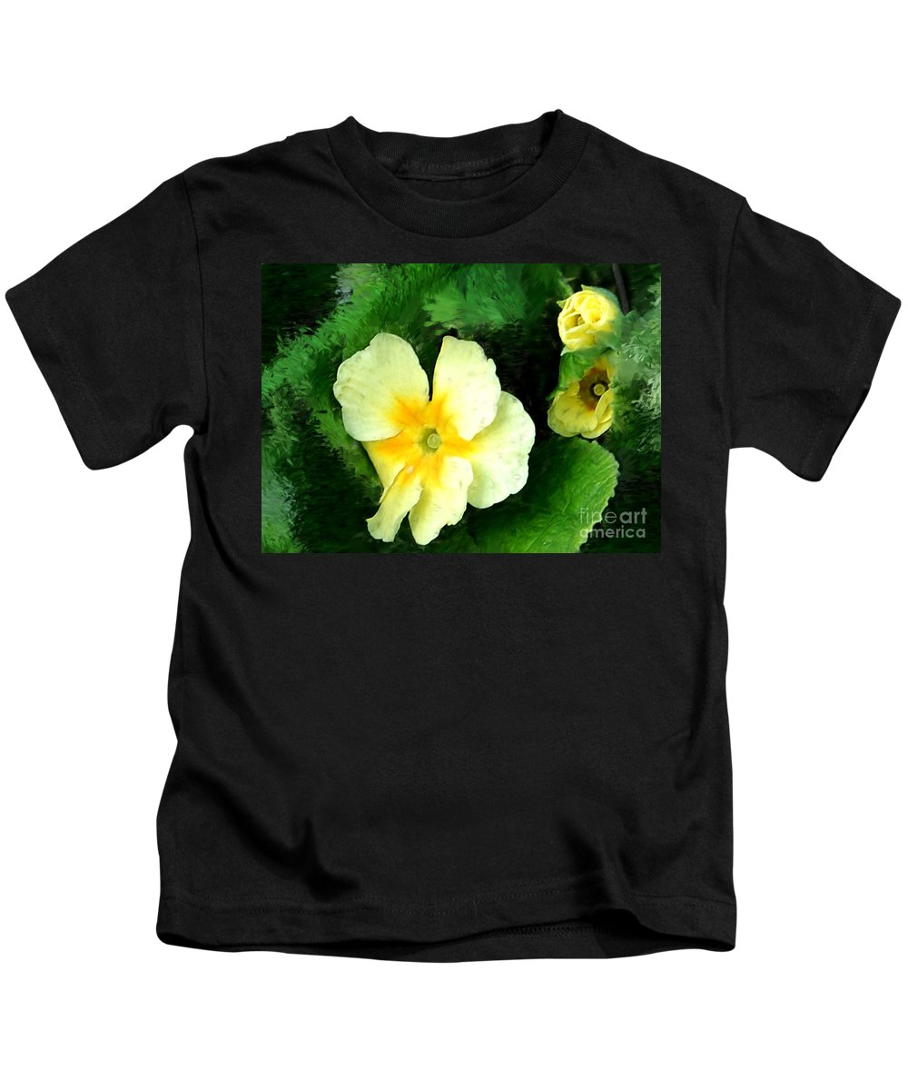 Digital Photograph Kids T-Shirt featuring the photograph Primrose 2 by David Lane