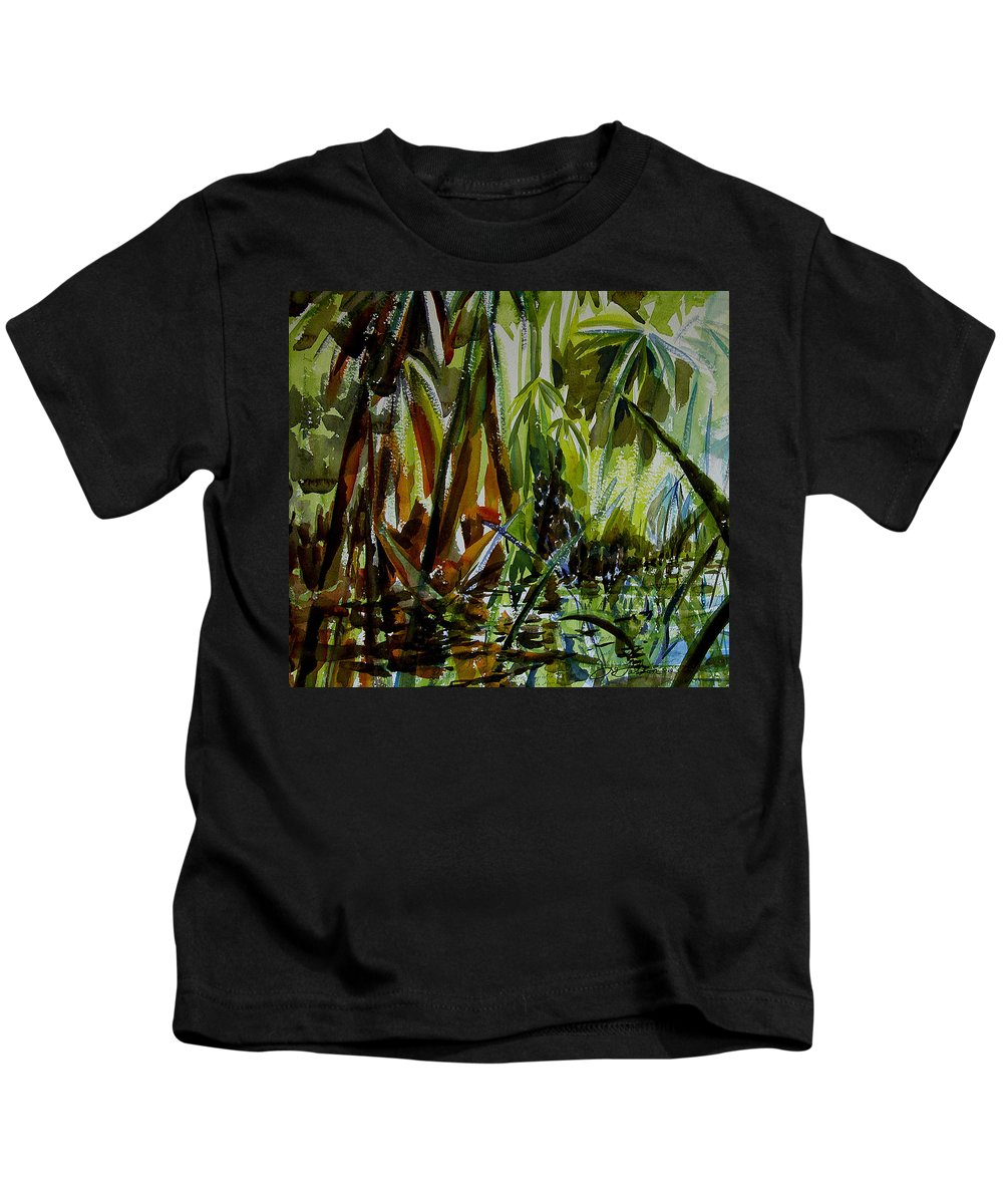 Framed Prints Kids T-Shirt featuring the painting Pristine Waters by Julianne Felton