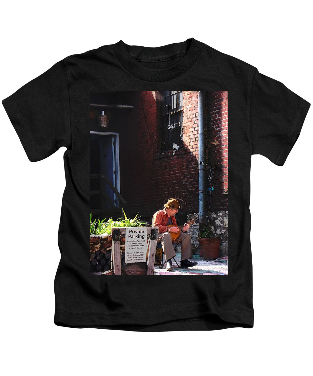 City Scape Kids T-Shirt featuring the photograph Private Parking by Steve Karol