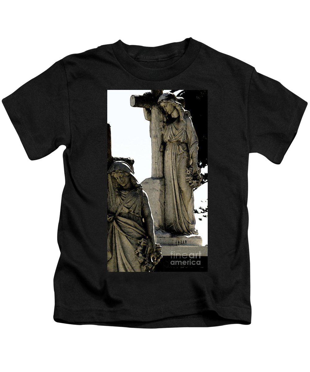 Cross Kids T-Shirt featuring the photograph Procession Of Faith by Linda Shafer
