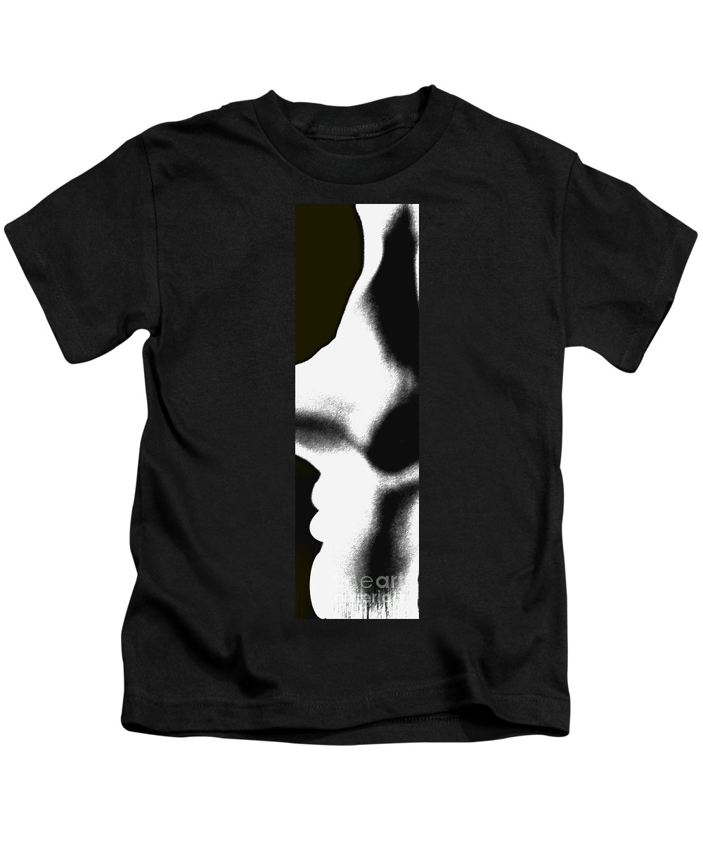 Abstract Kids T-Shirt featuring the photograph Profiles by Amanda Barcon