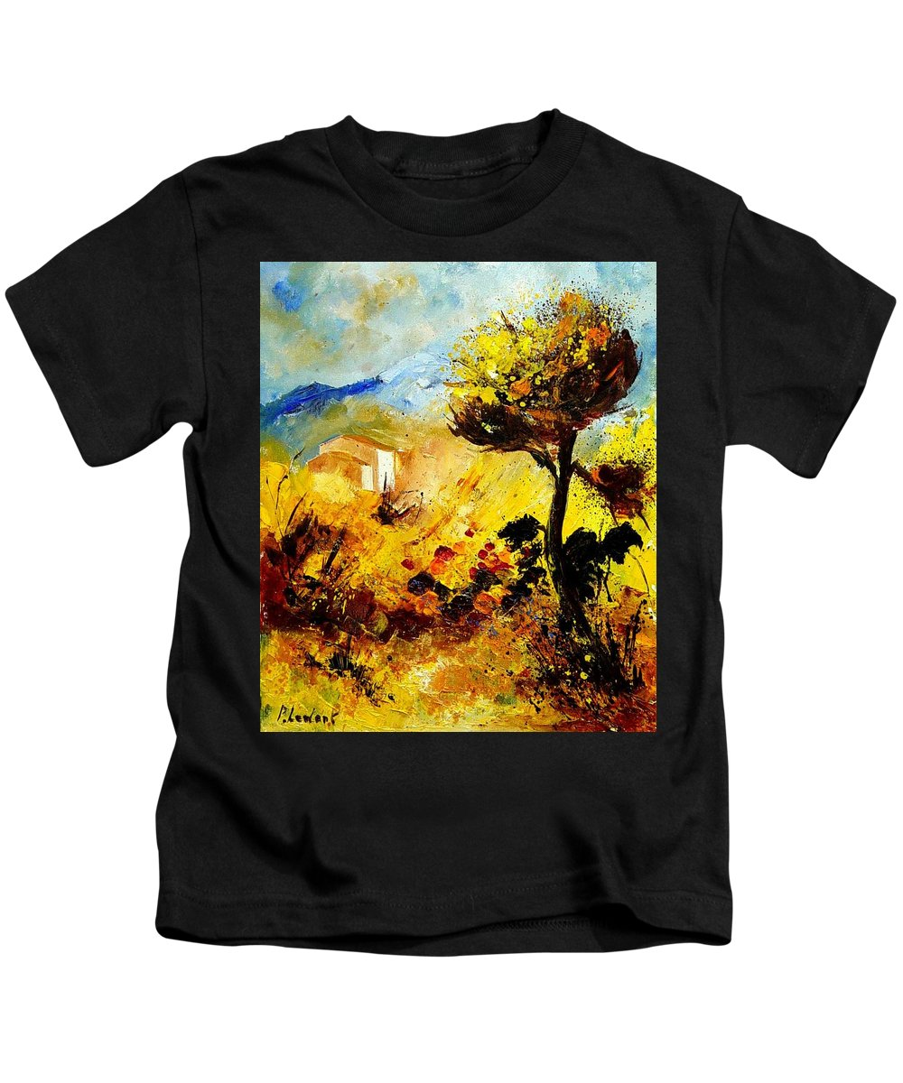 Flowers Kids T-Shirt featuring the painting Provence 56 by Pol Ledent