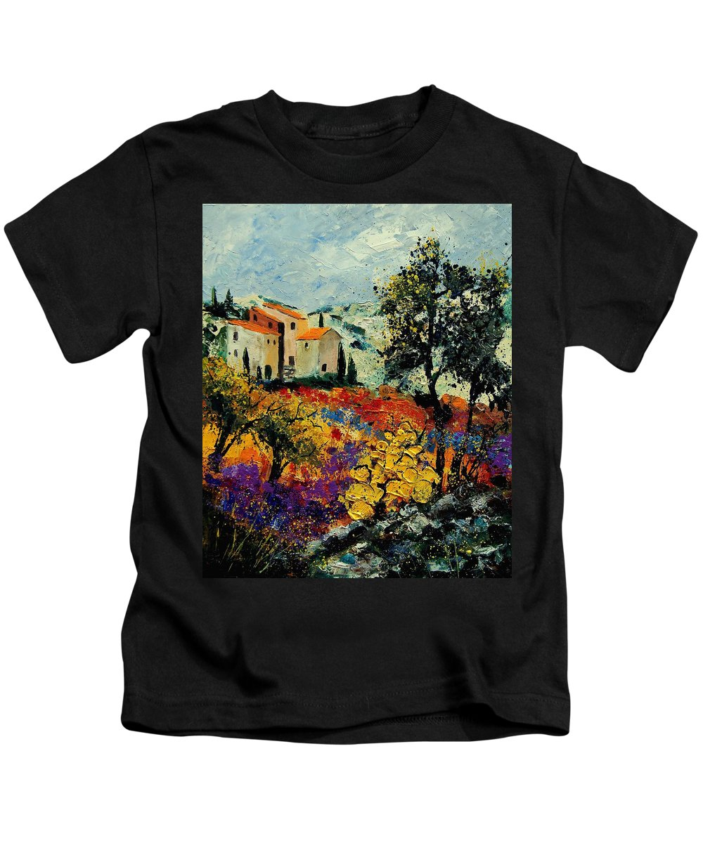 Provence Kids T-Shirt featuring the painting Provence 56900192 by Pol Ledent