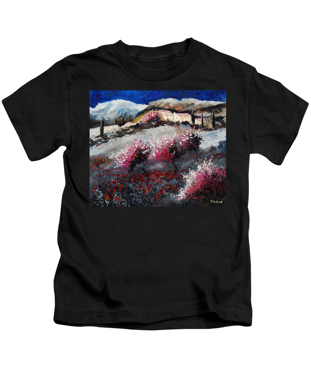 Provence Kids T-Shirt featuring the painting Provence 675458 by Pol Ledent