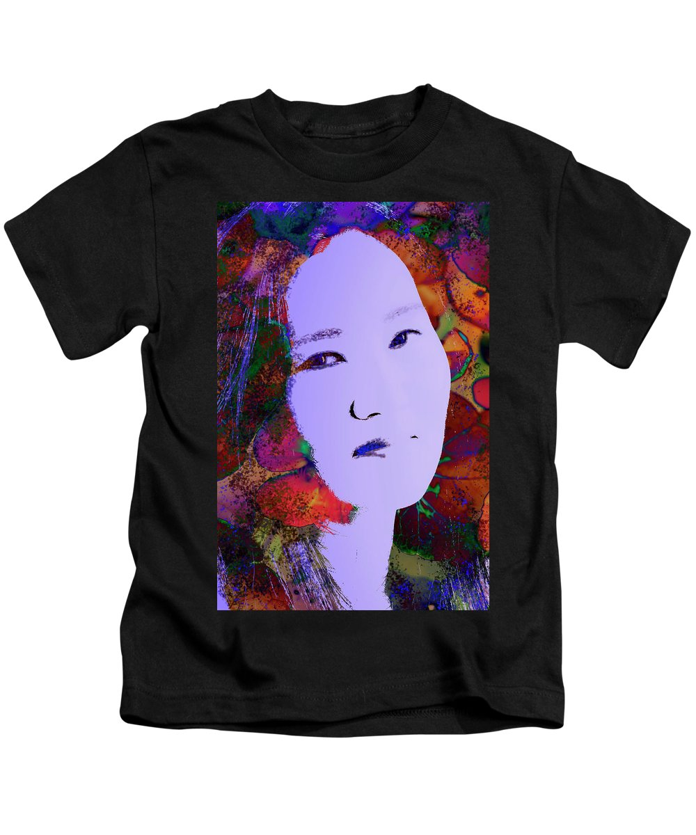 Woman Kids T-Shirt featuring the photograph Psychedelic Woman by Thomas Morris