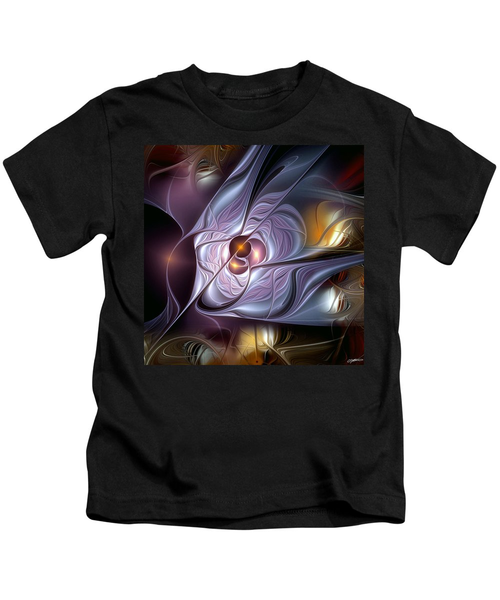 Abstract Kids T-Shirt featuring the digital art Psychic Malapropisms by Casey Kotas