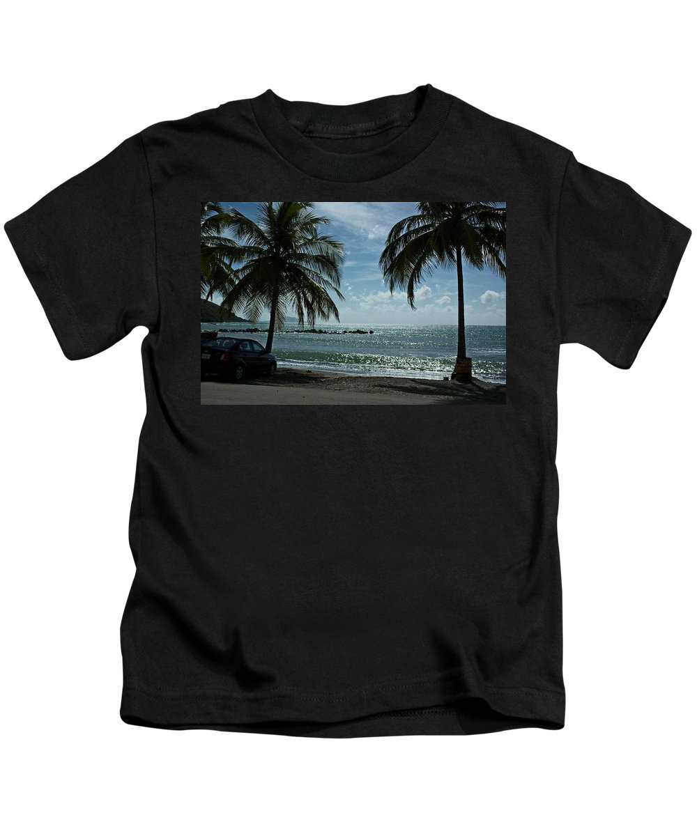Landscape Kids T-Shirt featuring the photograph Puerto Rican Beach by Tito Santiago