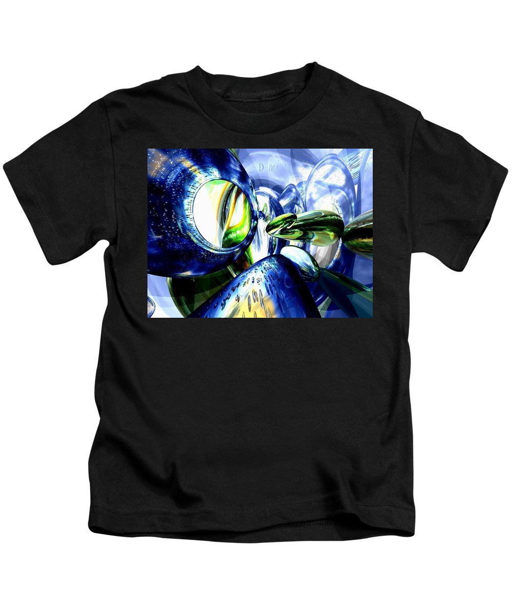 3d Kids T-Shirt featuring the digital art Pulse Of Life Abstract by Alexander Butler