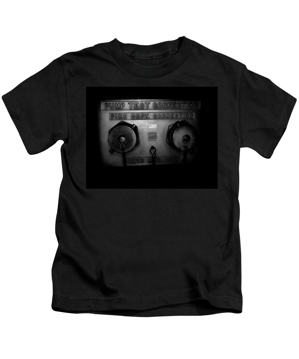 Color Photograph Kids T-Shirt featuring the photograph Pump Test Two by Thomas Valentine