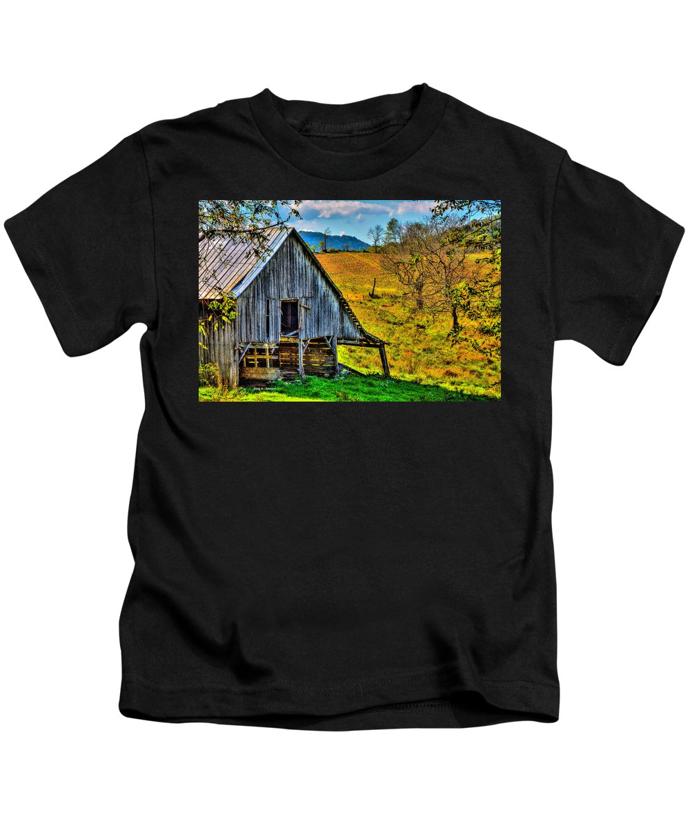Pumpkins Kids T-Shirt featuring the photograph Pumpkin Time by Bluemoonistic Images
