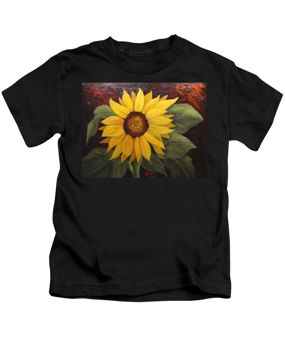 Still Life Kids T-Shirt featuring the painting Pure Sunshine Sold by Susan Dehlinger