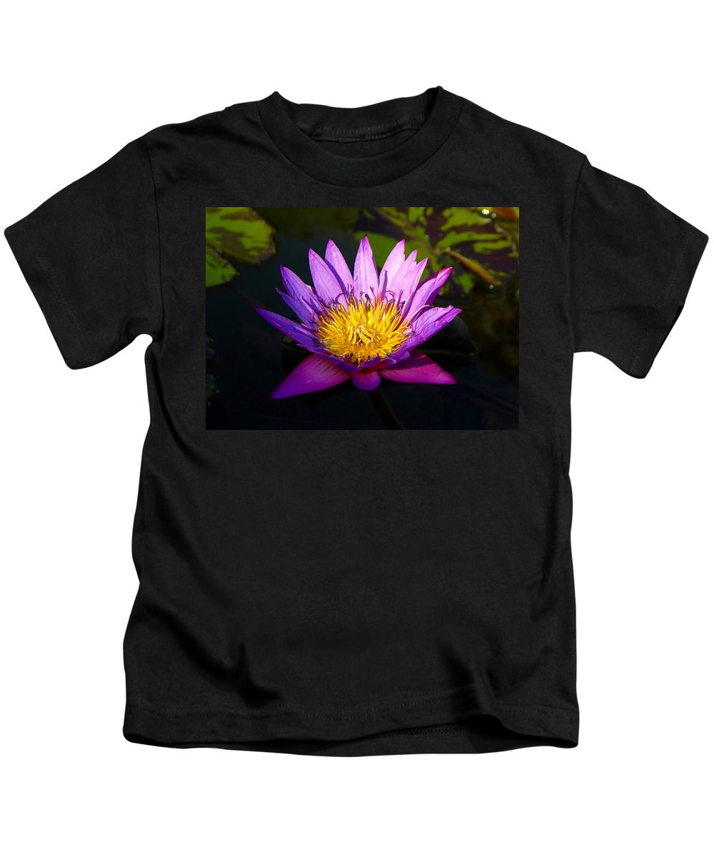 Fine Art Photography Kids T-Shirt featuring the photograph Purple And Yellow by David Lee Thompson